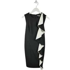 NWT Karl Lagerfeld Shift Dress w/ Large Ruffle